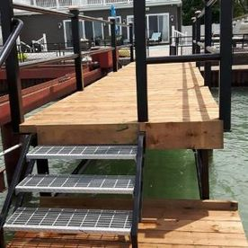 Boat dock restoration and beautification
